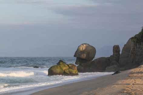 La plage de notre lodge de charme au bord des Caraïbes - Colombie -
