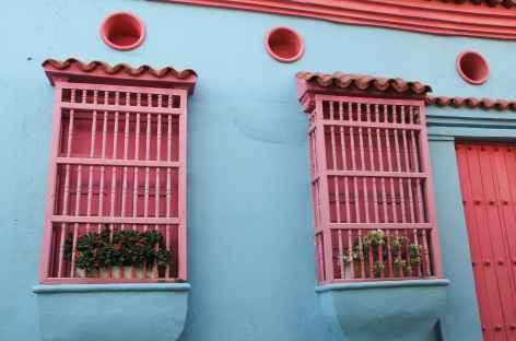 Façacade colorée à Carthagène - Colombie -