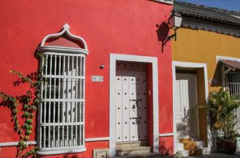 Façade colorée de Carthgène - Colombie -