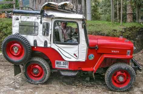 Nos jeeps willis dans la région du café - Colombie -
