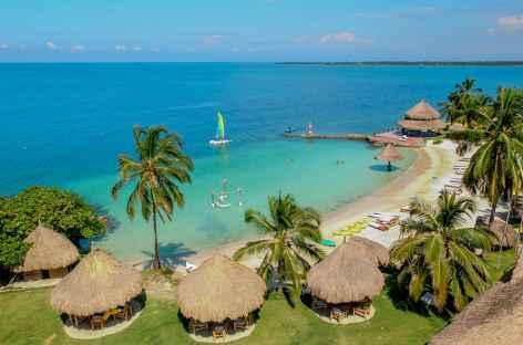 Hôtel Punta Faro sur l'île Mucura - Colombie -