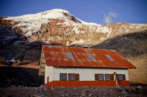 Arrivée au refuge Whimper au pied du Chimborazo - Equateur -