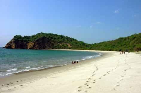 La plage de Machalilla près de Puerto Lopez - Equateur -