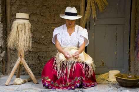 Fabrication des chapeaux de Panama  Cuenca - Equateur -
