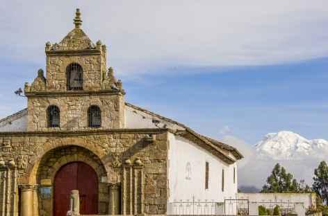 L'église de Cajabamba et le Chimborazo - Equateur -