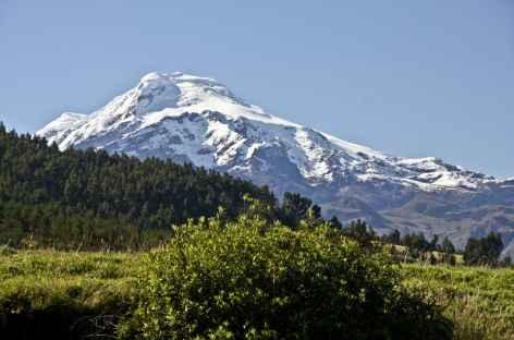 Vue sur le Cayambe depuis les environs d'Otavalo - Equateur -