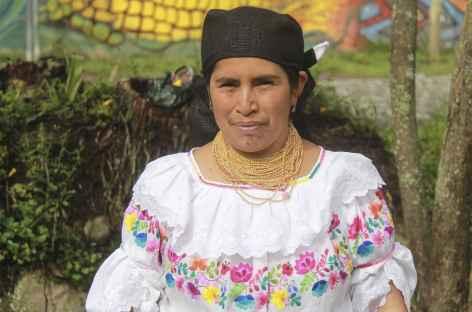 Notre hôte pour la nuit dans la communauté indienne de Cotacachi - Equateur -