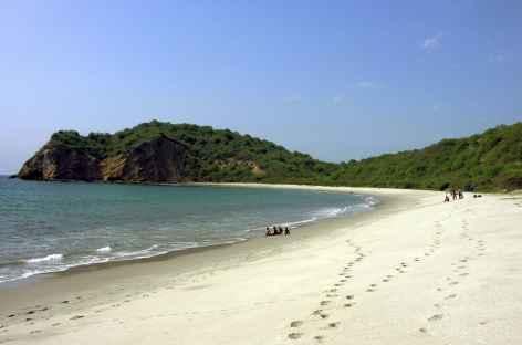 La plage de Machalilla à Puerto Lopez - Equateur -