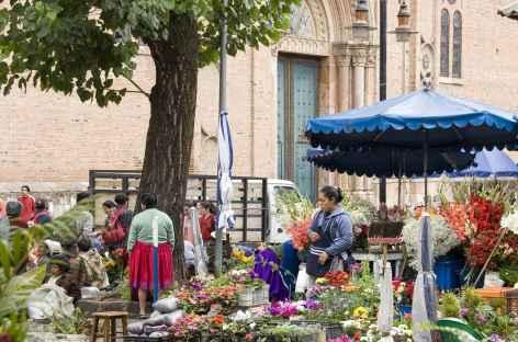 Cuenca, le marché aux fleurs - Equateur -