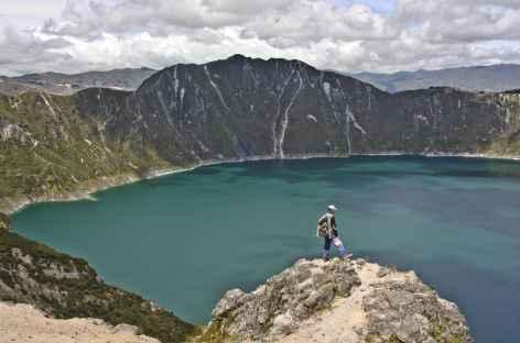 Arrivée à la lagune Quilotoa - Equateur -