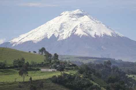 Vue sur le Cotopaxi en chemin vers le rio Pita - Equateur -