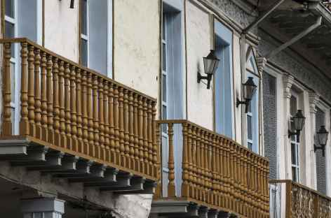 Jolie façade à Cuenca - Equateur -