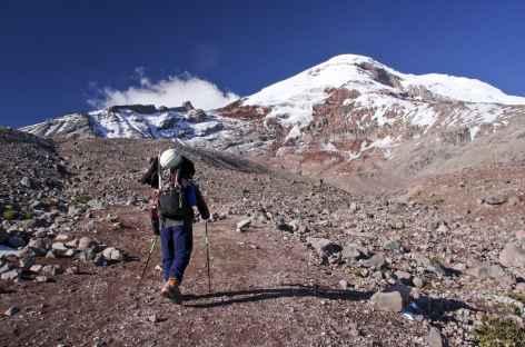 Marche vers le refuge Whimper au pied du Chimborazo - Equateur -