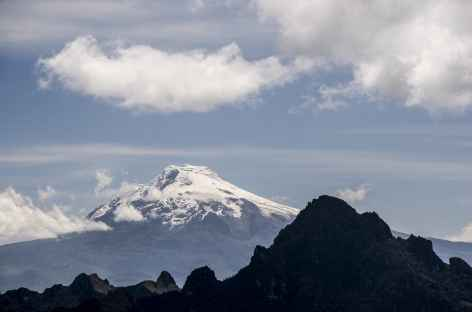 Vue sur le Cayambe depuis le sommet du Fuya Fuya - Equateur -