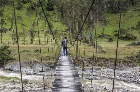 Traversée du rio Pita entre Isinlivi et Chugchilan - Equateur -