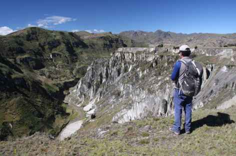 Face au canyon du rio Toachi - Equateur -