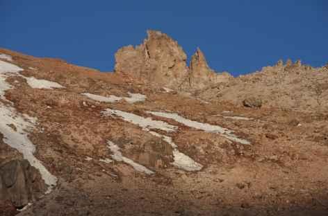 Les aiguilles Whymper à l'approche du Chimborazo - Equateur -