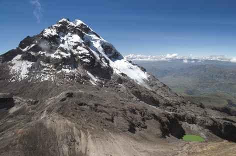 Vue sur l'Illiniza sud depuis le sommet nord - Equateur -