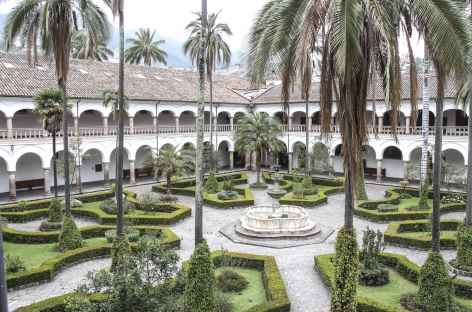 Les jardins du couvent Santo Domingo à Quito - Equateur -
