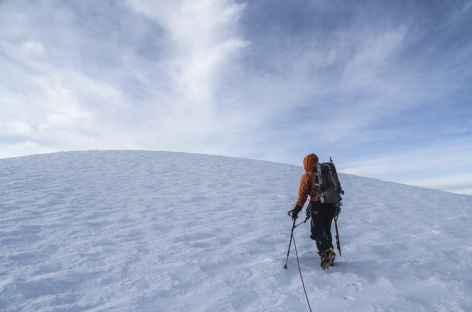 A l'approche du sommet du Cayambe - Equateur -