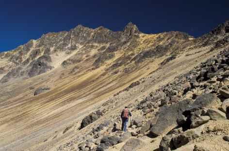 Au cours de l'ascension de l'Illiniza - Equateur -