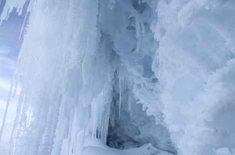 Grotte de glace au cours de l'ascension du Cayambe - Equateur -