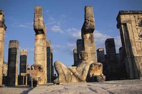 Sur le site Maya de Chichen Itza - Mexique -