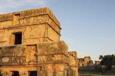Détail sur le site Maya de Tulum - Mexique -