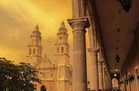 La place principale de Campeche - Mexique -