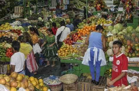 Le marché couvert à Guatemala City - Guatemala -