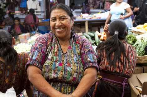 Sur un marché - Guatemala -