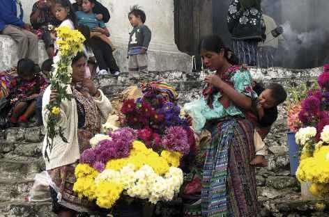 Sur le marché de Chichicastenango - Guatemala -