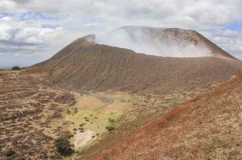 A l'approche du cratère actif du volcan Telica - Nicaragua -