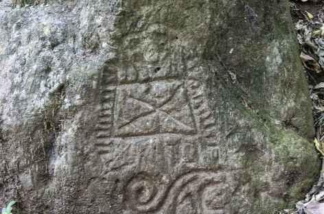 Un pétroglyphes sur l'île Omotepe - Nicaragua -
