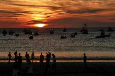 Coucher de soleil sur le Pacifique - Nicaragua -