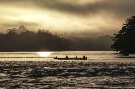Coucher de soleil sur le rio San Carlos - Nicaragua -