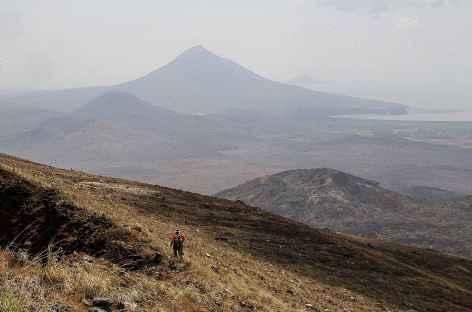Au cours de l'ascension du volcan Momotombo - Nicaragua  -