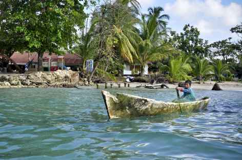 Archipel Bocas del Toro, ambiance au village Bocas del Drago - Panama -