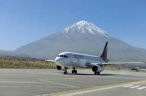 Arrivée à Arequipa au pied du volcan Misti - Pérou -
