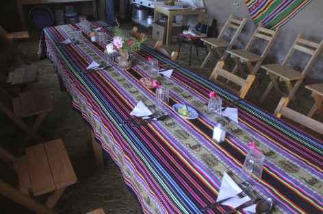 Une belle table dressée à Paramis - Pérou -