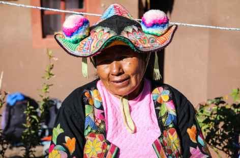 Coiffe région de Llachon - Pérou -
