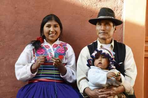 Villageois sur l'île d'Amantani, lac Titicaca - Pérou -