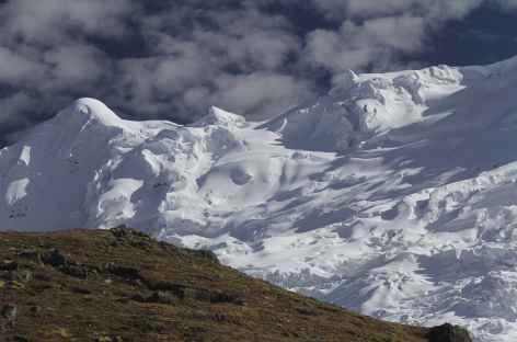 Le versant ouest de l'Ausangate depuis le col Apacheta - Pérou -