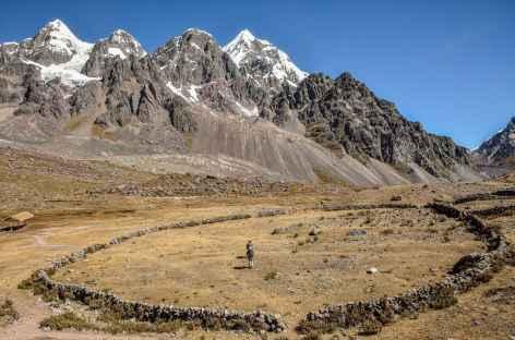 Un enclos pour les troupeaux d'alpagas - Pérou -