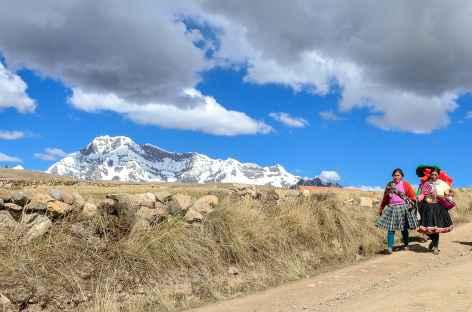 Le massif de l'Ausangate depuis le village d'Upis - Pérou -