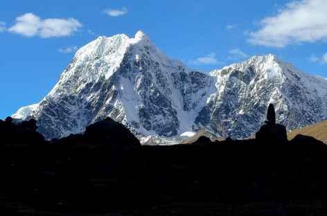 Plein cadre sur les hauts sommets de la Cordillère - Pérou -