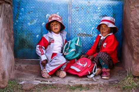 Enfants à Llachon - Pérou -