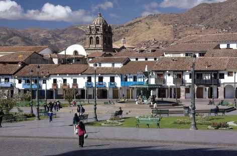 La plaza de Armas de Cusco - Pérou -