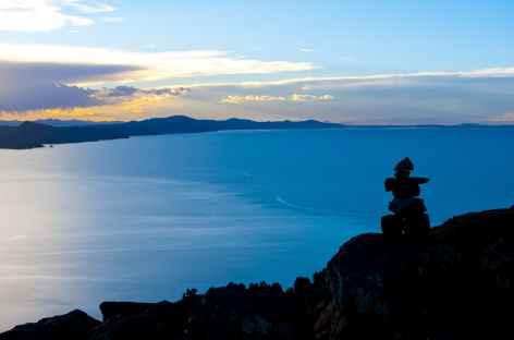 Lever de soleil depuis l'île d'Amantani - Pérou -