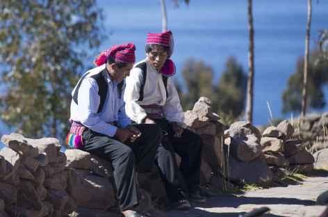 Rencontre sur l'île d'Amantani - Pérou -